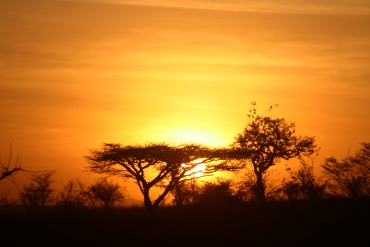 sunset in Queen Elizabeth National Park Uganda