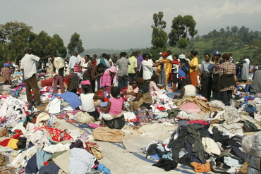 clothes sale at Muguzu market